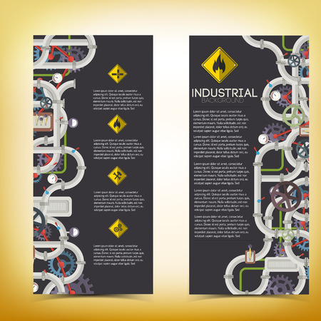 Industrial manufacturing vertical banners
