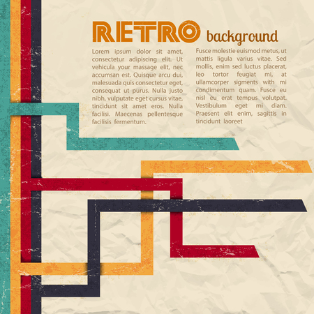Retro background illustration Ilustração