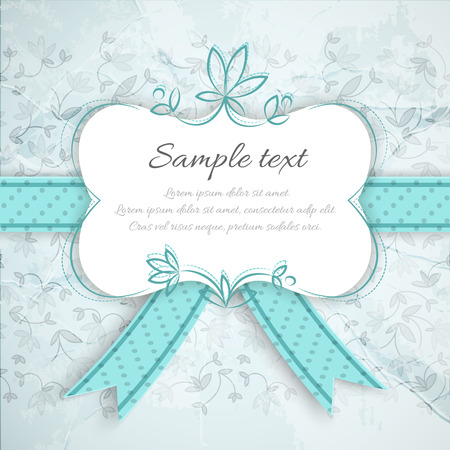 ビンテージのロマンチックな招待状のテンプレート