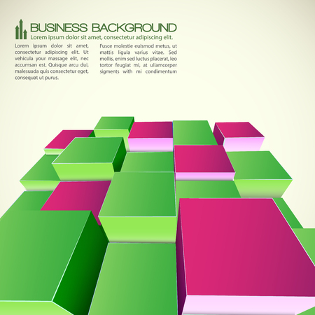 Isometric Abstract For Business Illustration