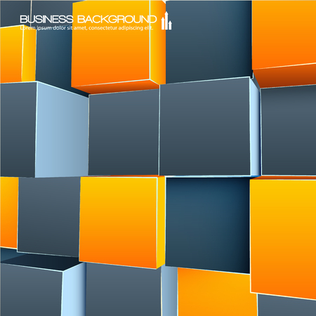 Orange And Grey Abstract 3d Background Illustration