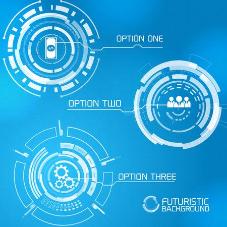 Futuristic Interface Menu Design Ilustração