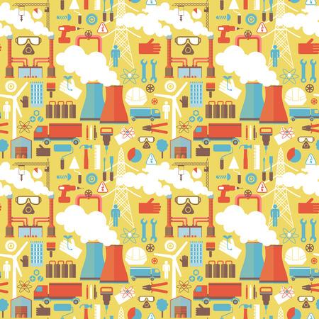 工場設備の工業用パターン