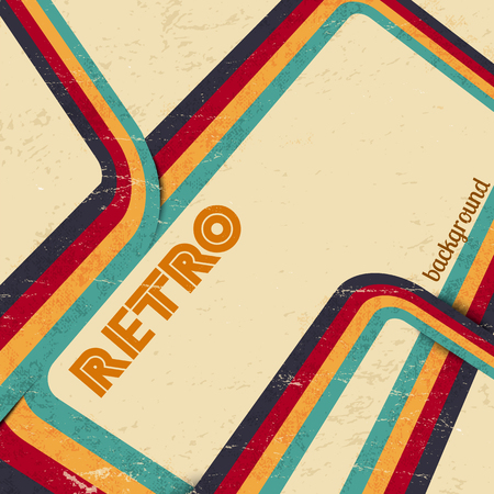 Retro background with colorful stripes on sepia background vector illustration