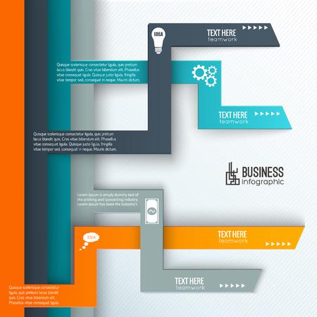 질감 된 배경 벡터 일러스트 레이 션에 텍스트 및 비즈니스 아이콘에 대 한 탭 장소와 팀웍 infographics 서식 파일