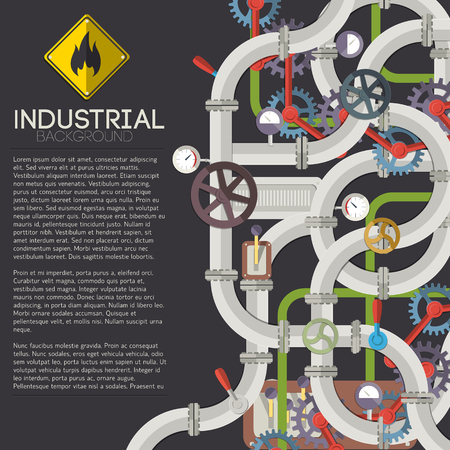 Industrial Piping Background Illustration