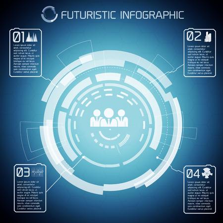 Futuristic Communication Conceptual Background