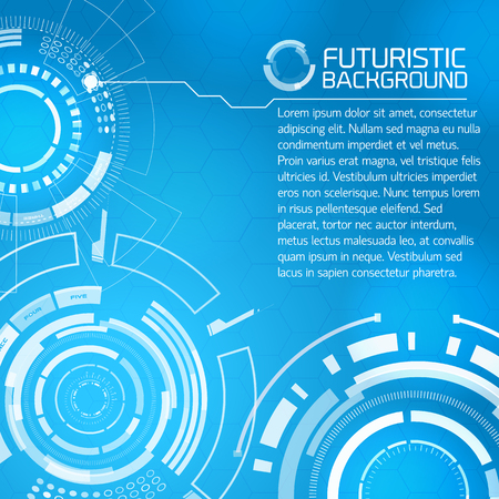 Futuristic Touch Interface Background Stock Vector - 85185798