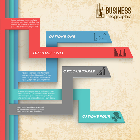 Business Infographic Modern Background Ilustrace