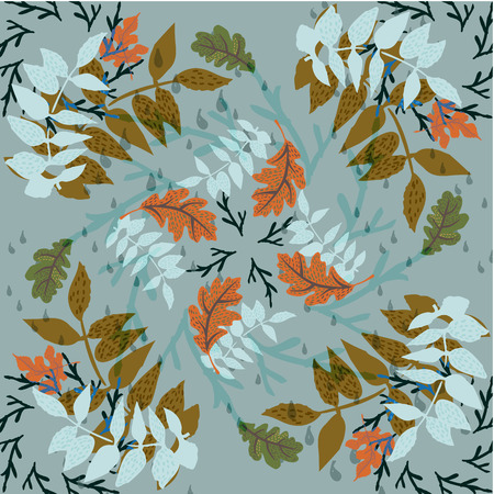 Autumn Foliage Hand Drawn Pattern