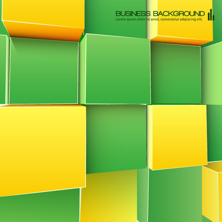 Abstract Cubes Background For Business Иллюстрация