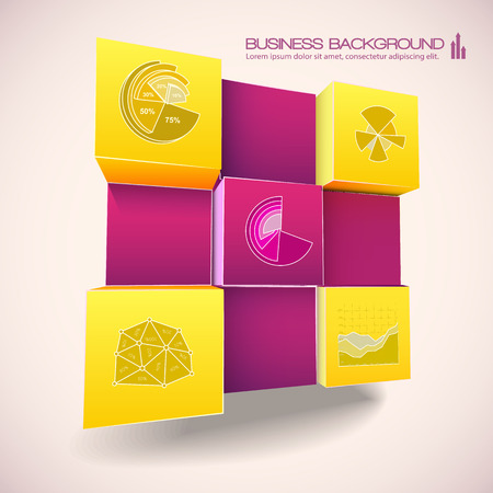 Geometrical 3d Business Background