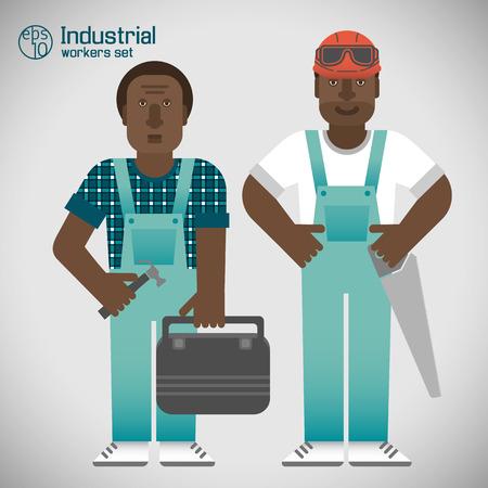 Industrial African Workmen Set