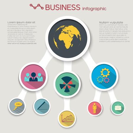 Concept infographique abstrait d & # 39 ; entreprise Banque d'images - 85506328
