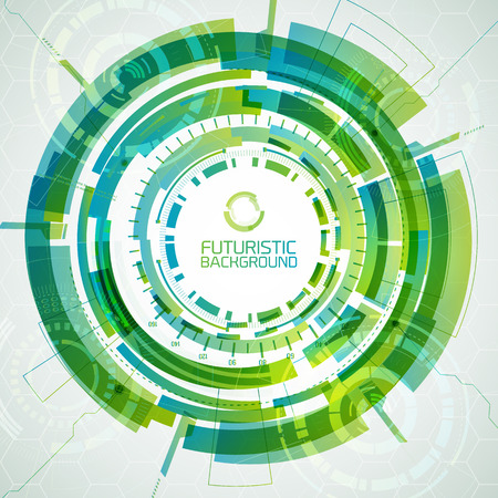 Abstract Round Futuristic Background