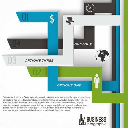 Modern Business Infographics Concept Ilustração