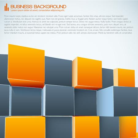 Modern Business 3d Background Illustration