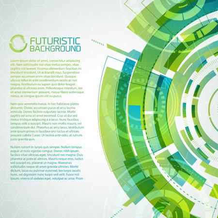 Fururistic Green Conceptual Background
