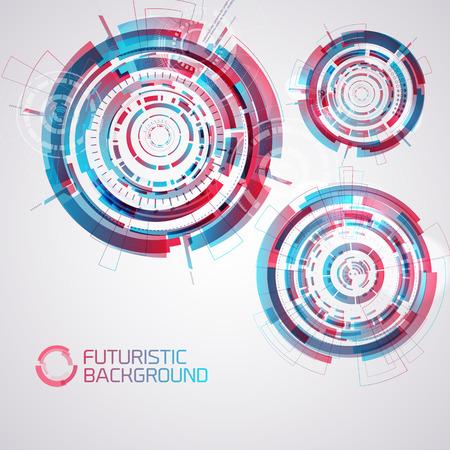 Futuristic Round Elements Set