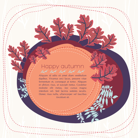 Happy Autumn Card Иллюстрация