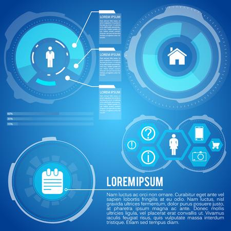 Life Planning Futuristic Infographics