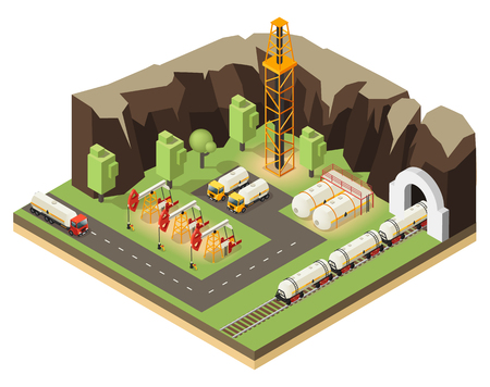 Isometric Oil Extraction Concept