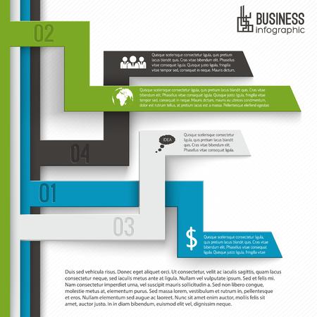 비즈니스 Infographics 템플릿 일러스트