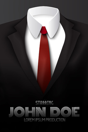 Male Business Suit Advertising Poster