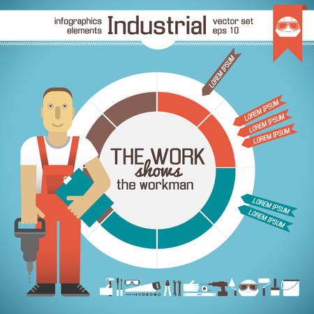 Industrial Infographic Elements 向量圖像