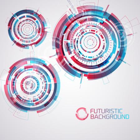 Modern Futuristic Circles Set Illustration