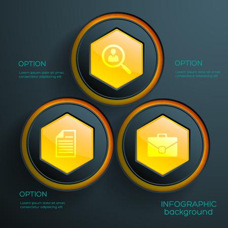 추상 Infographic 개념
