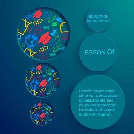 School abstracte Infographic Concept Stock Illustratie