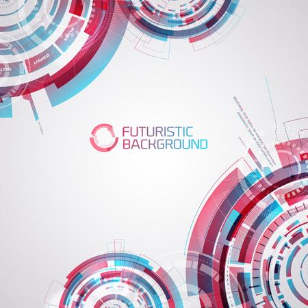 Touchable Elements Decorative Background Illustration