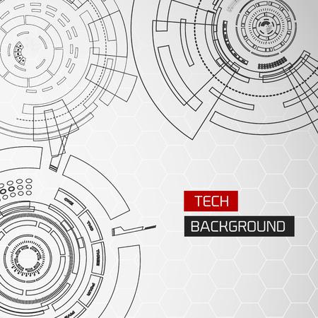 Drawing Tech Circles Background