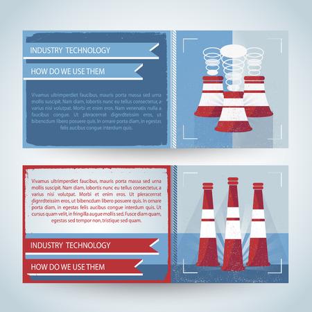 Industry Horizontal Banners Illustration