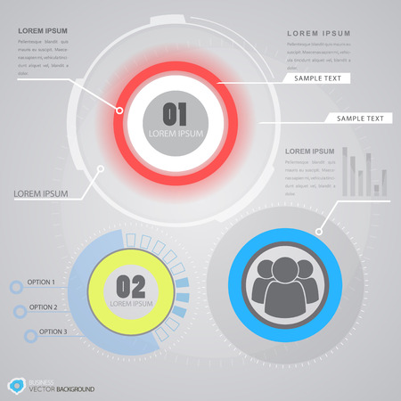 Business Infographics With Software Interface Elements Illustration