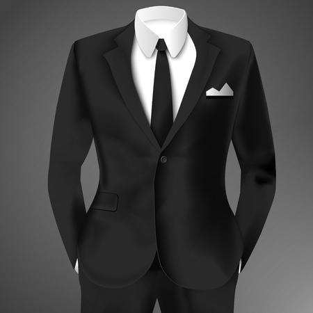 Business Suit Template Ilustrace