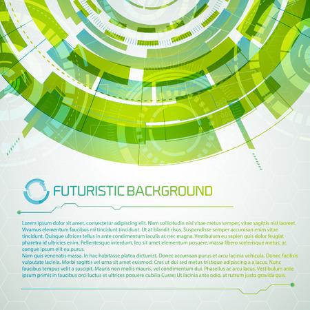 Virtual Interface Futuristic Concept