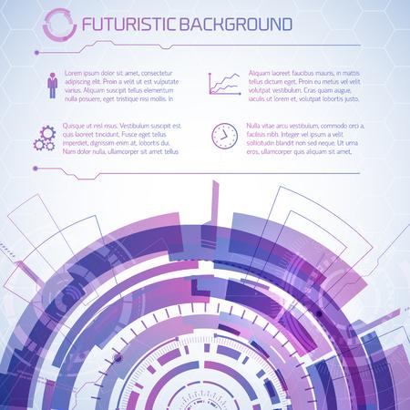 dashboard: Futuristic Technology Information Background