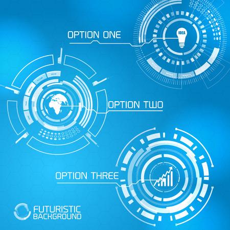 Modern Virtual Interface Design Illustration