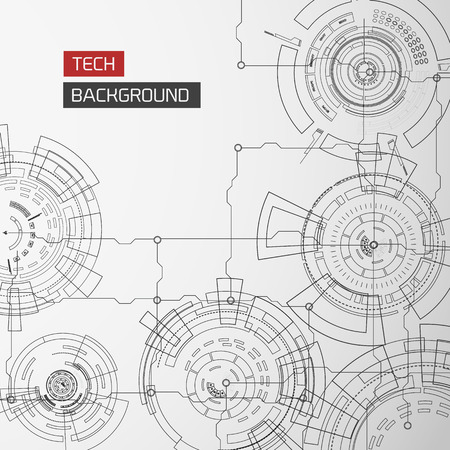 Virtual Interface Monochrome Background Stock Vector - 85714129