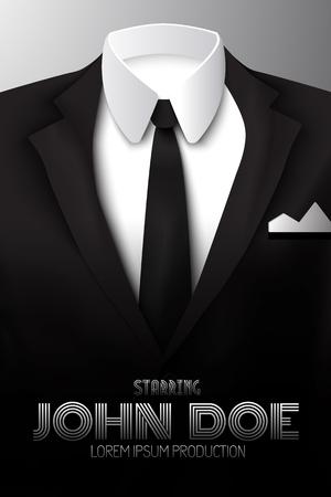 Man スーツのプロモーションポスター。