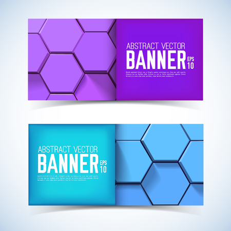 Abstract Geometric Horizontal Banners