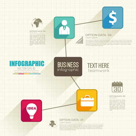 Infographic Web Abstract Concept