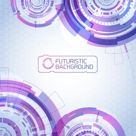 Futuristic Virtual Technology Illustration