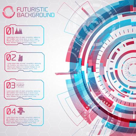 Futuristic Virtual Menu Stock Vector - 85818044