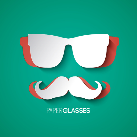 Mustache And Glasses Hipster Style Design