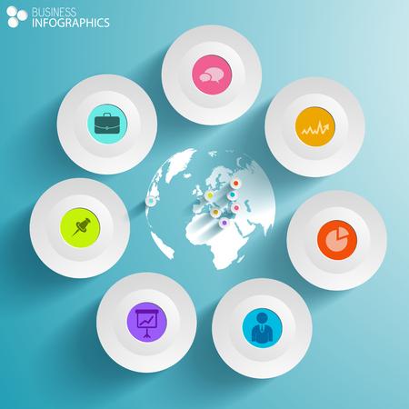 World business infographics Illustration
