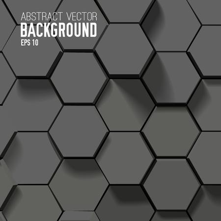 幾何学的な六角形の抽象的な背景  イラスト・ベクター素材