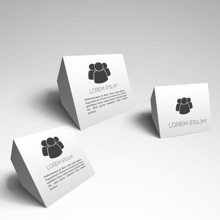 Three White Business Elements
